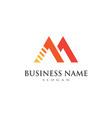 m letter logo business vector image vector image
