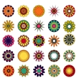 mandalas Colored mandala set vector image vector image
