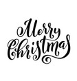 merry christmas handwritten lettering lettering vector image vector image