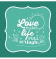 message in calligraphy design vector image