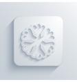 modern snowflake light icon vector image