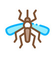 mosquito insect icon outline vector image
