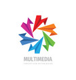 multimedia business concept logo design social vector image vector image