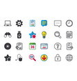 notebook pc and usb flash drive stick icons vector image vector image