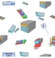Parking car pattern cartoon style vector image vector image
