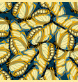 pattern with butterflies on blue vector image