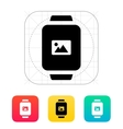 Photo on smart watch icon vector image vector image