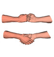 polygonal handshake low poly art vector image