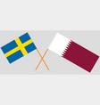 qatar and sweden the qatari and swedish flags vector image