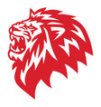 red lion head angry roaring logo icon vector image vector image