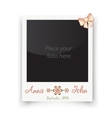 Retro wedding photo frame Template for photo of vector image vector image