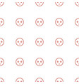 sad emot icon pattern seamless white background vector image vector image