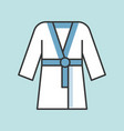 sauna robe icon filled outline vector image