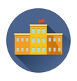 school building icon vector image vector image