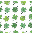 seamless pattern of clover happy st patricks day vector image