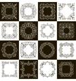 set calligraphic vintage frames vector image vector image