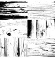 set of wood texture background grunge vector image vector image