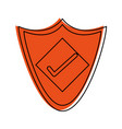 shield with check mark antivirus icon image vector image vector image