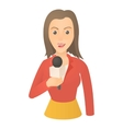 Speaking presenter icon cartoon style vector image