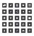 Square Website Icons Set vector image vector image