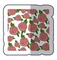 sticker colorful pattern roses floral design vector image