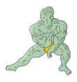 strong alien vector image vector image