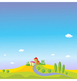 summer landscape with blue sky vector image vector image