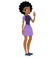 teenager african american girl with black vector image vector image