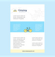 template layout for cycle comany profile annual vector image vector image