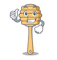 thumbs up honey spoon character cartoon vector image vector image
