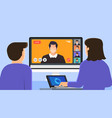 video conference 10 vector image vector image