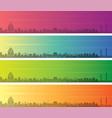 vladivostok multiple color gradient skyline banner vector image vector image
