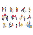 volunteering and charity isometric set vector image vector image