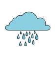 weather cloud rainy icon vector image vector image
