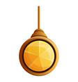 yellow gemstone pendant icon cartoon style vector image