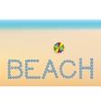 Beach background with sun umbrellas vector image