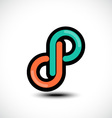 Abstract Letter 8 number logo icon symbol