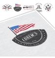 American gun shop set Firearms store Hunting gun vector image vector image