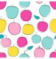 Apple seamless pattern vector image