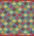 autumn maple leaves symmetrical seamless pattern vector image vector image