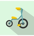 Baby tricycles flat icon vector image