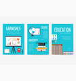 back to school information cards set student vector image vector image