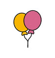balloons celebration isolated vector image vector image