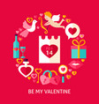 be my valentine postcard vector image vector image