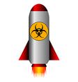 Biohazard rocket vector image vector image