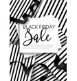 black friday sale discount promo offer poster vector image