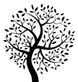 Black Tree icon vector image vector image