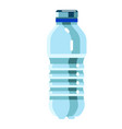 bottled water product isolated on white background vector image vector image
