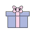 box of present gift with ribbon design vector image vector image