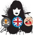 british rocker vector image vector image